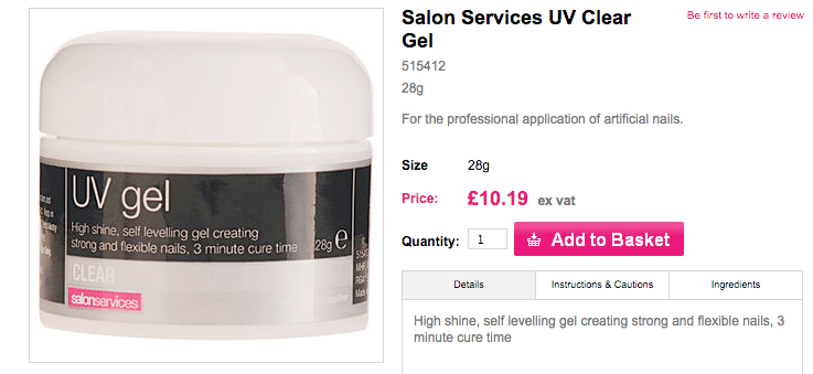 UV gel 28g salonservices