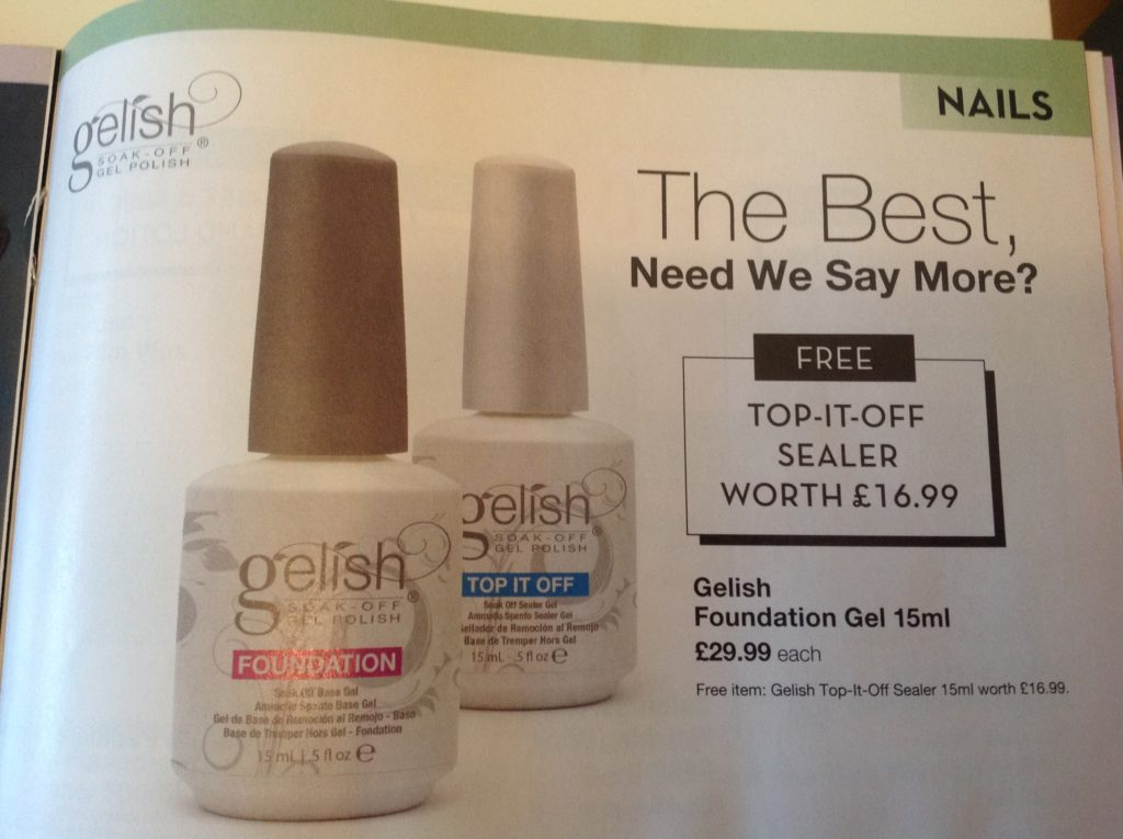 gelish base topcoat