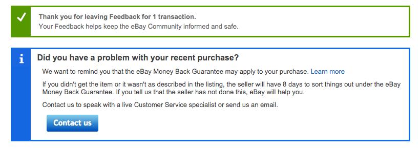 negatywna opinia ebay