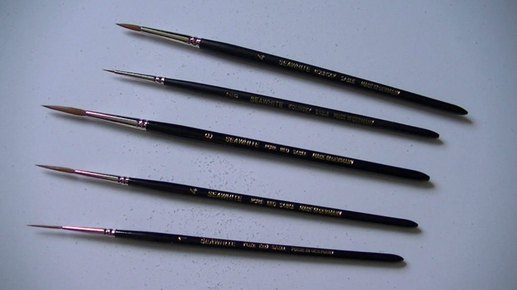 Kolinsky Sable Watercolour Brushes By Seawhite Pointed & Rigger