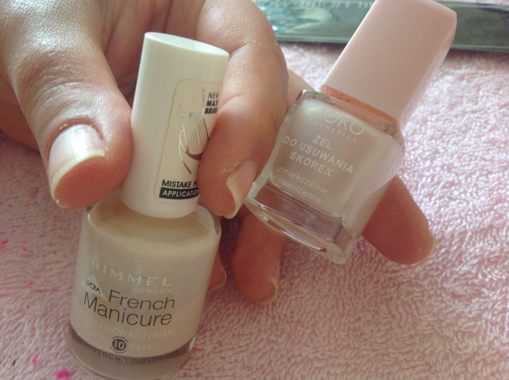 zestaw do francuskiego manicure