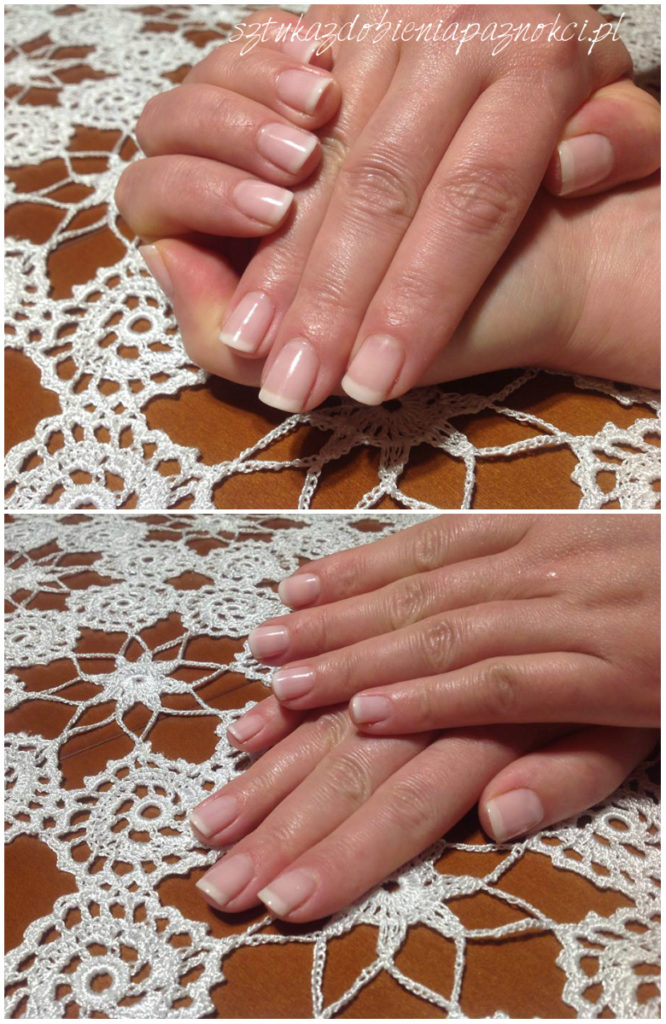 hybrydowy francuski manicure