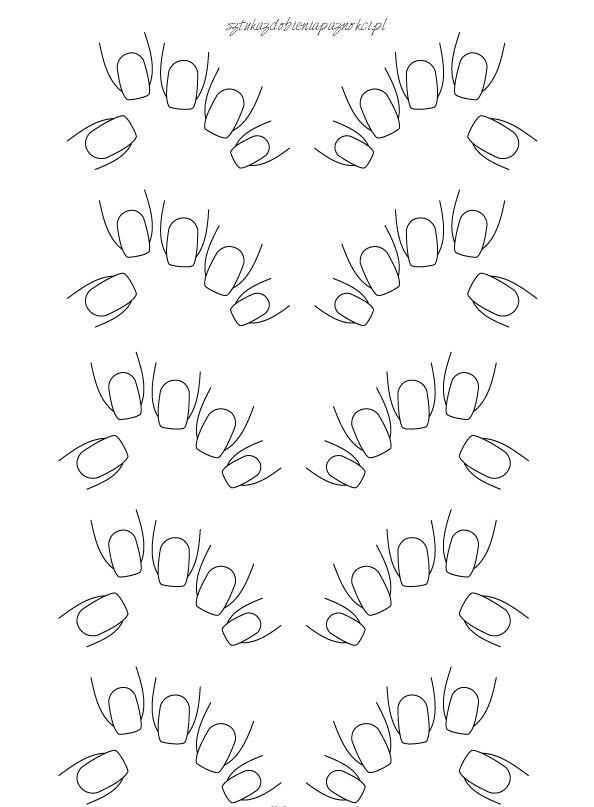 tablica nail art do cwiczen wzorkow na paznokciach 1