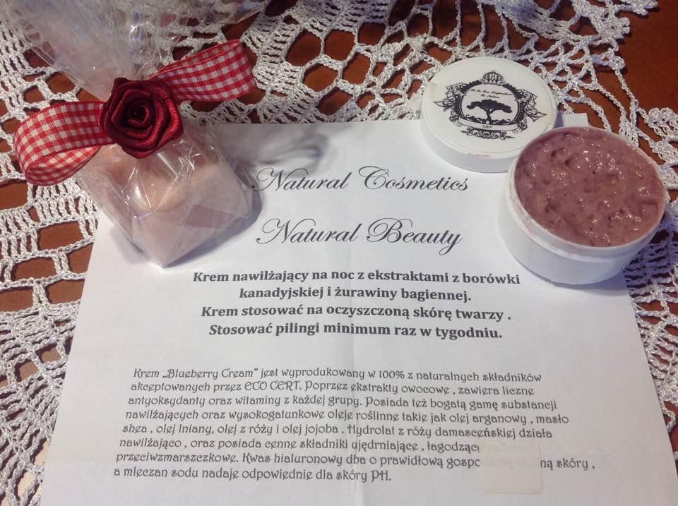 Natural beauty krem nawilżający z ekstraktami z borówki kanadyjskiej i żurawiny bagiennej