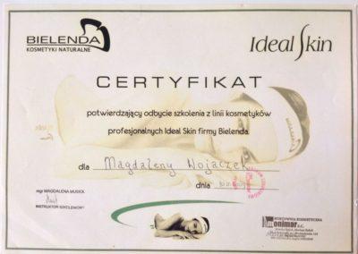 certyfikat-ukończenia-szkolenia-linia-kosmetykow-profesjonalnych-Bielenda